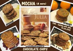 Sweet and That's it: Mocha (and more) Chocolate Chips - Biscotti al Cioccolato in 4 gusti (Baking with Julia - TWD) Baking With Julia, Chocolate Chips, Biscotti, Mocha, Pecan, Almond, Yummy Food, Beef, Breakfast