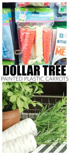 The perfect, inexpensive decor! How to make inexpensive Dollar Tree carrots look impressively real.
