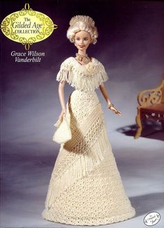 Grace Vanderbilt Outfit for Barbie Annie's Gilded Age Crochet Pattern RARE #AnniesAttic #DollOutfit