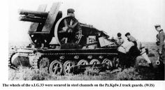 This was a self propelled artillery vehicle based on a Panzer I/B chassis with a s.I.G 33 field gun mounted on top. Pic below from Panzer Tracts No. 10 Artillerie Selbstfahrlafetten by Jentz.