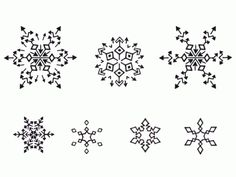 Snowflake Tattoo ideas?.... I love these.  What if we got three little snowflakes