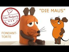 Maustorte / Die Maus / Sendung mit der Maus / Fondanttorte / Motivtorte / Backen mit Evas Backparty - YouTube