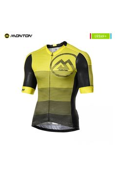 Yellow cycling jersey