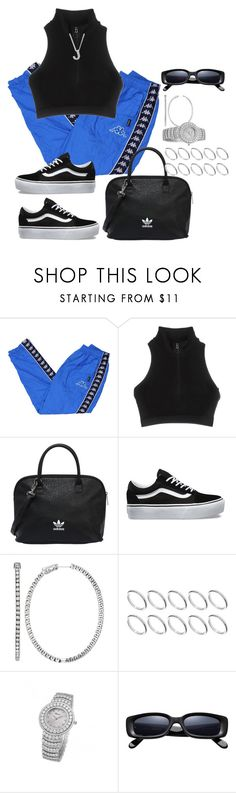 """Untitled #4174"" by mollface ❤ liked on Polyvore featuring adidas, adidas Originals, Vans, Emilio!, ASOS and Roberto Coin"
