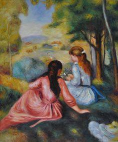 Renoir - Two Girls In The Meadow (Picking Flowers)