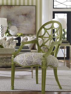 O, what a {tempting!} web we weave. Shown: The Cristal chair decked out in Apple Green, picked fresh from our new American Colors TV and print ads.