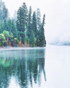 Rainy Morning in Toketee Lake, Oregon