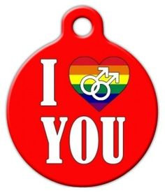 Support the #LGBT (lesbian, gay, bi-sexual, transgender) community with this fine selection of LGBT themed #pet ID tags. If you don't see what you're searching for, remember you can always create your very own unique piece of love-work!