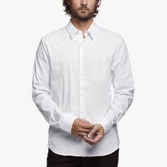 MATTE STRETCH POPLIN DRESS SHIRT