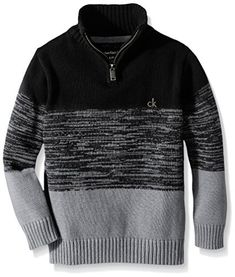 """Product review for Calvin Klein Boys' Half Zip Sweater.  Calvin Klein Scalar Solid Half Zip Sweater. 100 percent cotton.       Famous Words of Inspiration...""""For there is one thing we must never forget...the majority can never replace the man. And no more than a hundred empty heads make one wise man will an heroic decision arise..."""