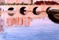 puente de segovia ACUARELA - Imágenes de Paisajes en Temática General   Dibujando