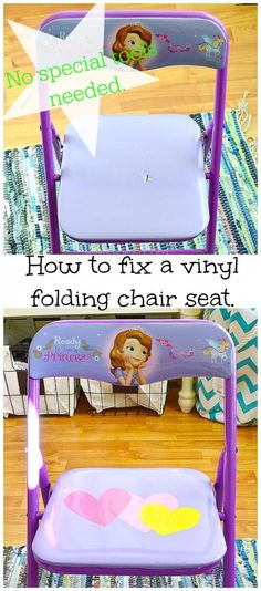 How to fix a vinyl folding chair seat.