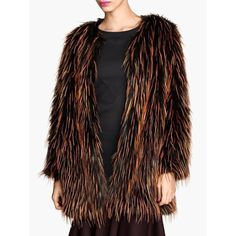 Stylish Round Collar Long Sleeve Colorful Faux Fur Women's Coat