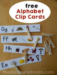 Print these free clip cards for a great letter sound activity! by christa