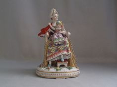 Antique German Porcelain  group Motherhood Woman Child  Meissen Style Figure