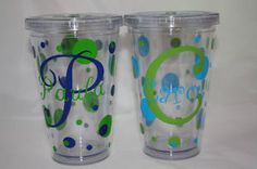 love this monogrammed tumblers! Just ordered 50 of these @ only 2.33 each, free shipping AND a 10% off discount code. My friend and I are going to decorate them and give them away for Christmas gifts! Contact me if you want the name of the place online where we got them from.