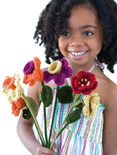 Always Blooming Bouquet    http://www.bhg.com/crafts/knitting/crocheting-projects/cute-crocheted-gifts-for-kids/?sssdmh=dm17.595861=nwcu050812a=4115801618#page=2