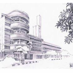 Studi Arsir 7 #hotelhoman #bangunan #bandung #drawing #pencil @art City Sketch, Pencil Art, Pisa, Tower, Studio, Abstract, Instagram, Building, Drawings