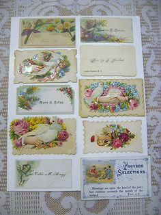 Beautiful Victorian calling cards
