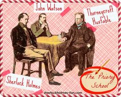 I've added my two pence to Sidney Paget's classic illustration from The Priory School. Sherlock Holmes, Watson and the school's principal Mr. Huxtable - are discussing the case.