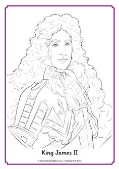 king james ii colouring page
