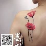 Image result for small poppy tattoo