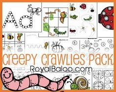 Creepy Crawlies Pack - Free printable pack for tot, preK, kindergarten, first… Preschool Themes, Preschool Printables, Preschool Science, Science Activities, Educational Activities, Nature Activities, Elementary Science, Insect Activities, Spring Activities