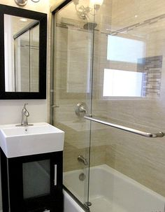 After: A recent bathroom #remodel with new #sink and #fixtures.