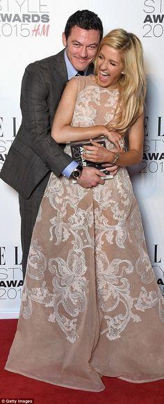 Luke Evans and Ellie Goulding - Elle Style Awards 2015