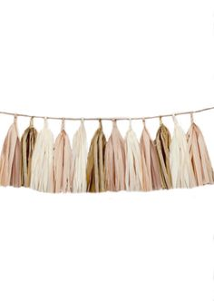 A personal favorite from my Etsy shop https://www.etsy.com/listing/188373722/tissue-tassel-garland-blush-antique