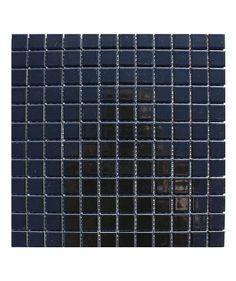Pool Gloss Black 23x23mm Mosaic Tile