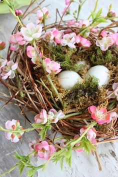 Nest are a beautiful part of Spring… and Spring decorating.  What if I could show you how to take a plain and ordinary nest and make it over-the-top fabulous?  I have a formula that will work with almost any nest and a few extra elements!  Here's my secret for feathering a store bought nest… …