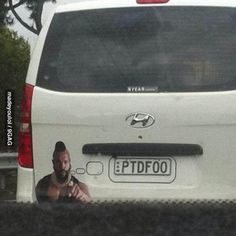Saw Mr T on the road.