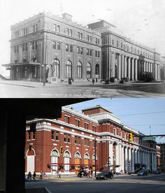 Waterfront Station - 1925/2010. Vancouver Bc Canada, Vancouver Island, Granville Street, Fraser Valley, Iconic Photos, Most Beautiful Cities, Local History, Boat Plans, Canada Travel