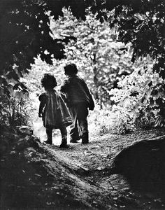 'children walking' by Eugene Smith, reminds me of Hansel and Gretel