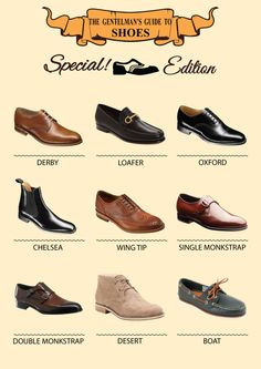 From #casual to #formal shoes, here are some men's #StyleTips to choose the best shoe. #guide #mens #fashion #menshoes #mensfashion