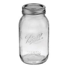 画像1: Ball 瓶(メイソンジャー)32oz/クリア(レギュラー蓋)