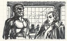 "Magnus - sketch for ""Milady nel 3000"" - W.B."
