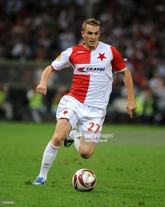 Peter Grajciar of SK Slavia Praha in action during the UEFA Europa League Group B match between Genoa CFC and SK Slavia Praha at Luigi Ferraris Stadium on September 17, 2009 in Genoa, Italy.