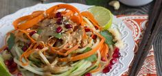 Are you ready to taste the vibrant flavors of Thai food while on a raw foods diet? Get out your spiralizer and make this tasty recipe.