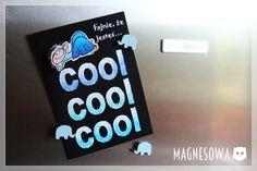Słoniki na lodówce | MagneSowa - Ozdobne magnesy