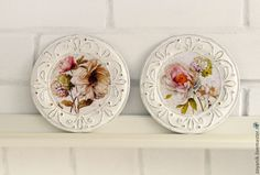 """Купить Панно"""" Как цветущие сады весной"""". - белый, золотой, цветы, панно на стену"""