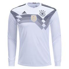 beab04d06b3 Germany 2018 Long Sleeve Home Jersey by adidas   2018 FIFA WorldCup Kits at  WorldSoccershop.