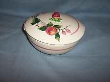 oven bake pottery | Cronin/Pottery Guild PEACHES OVEN BAKE Round Covered CASSEROLE, Fruit ...