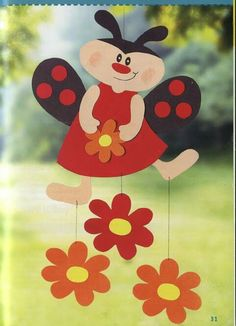 beruška Diy And Crafts, Crafts For Kids, Arts And Crafts, Paper Crafts, Class Decoration, School Decorations, Spring Art, Spring Crafts, Mobiles