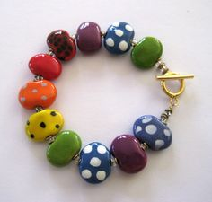 Beaded Bracelet Kazuri Bangle Fair Trade by lizbriggsdesigns, $22.00