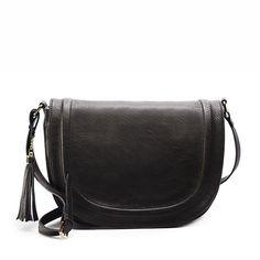 casual shoulder cross-body bag soft cover solid saddle tassel women messenger bag