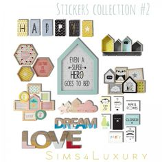 Sims4Luxury: Stickers collection 2 • Sims 4 Downloads