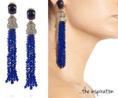DIY: Oscar de la Renta inspired Tassel Earrings. | Stripes
