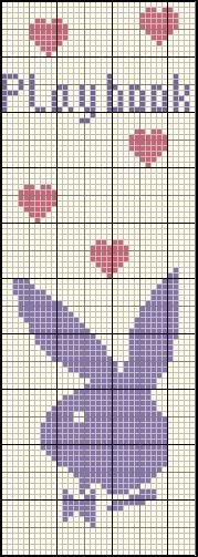 amour - love - play boy -  point de croix - cross stitch - Blog : http://broderiemimie44.canalblog.com/